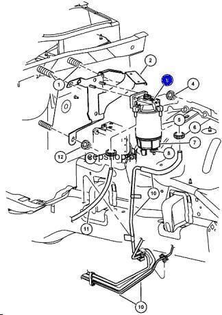 Fuel Pump Mechanical On Fuel Filter 5069072aa Cherokee
